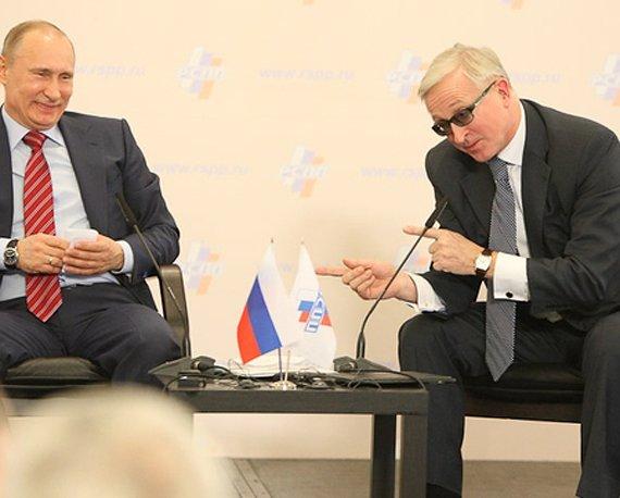 Владимир Путин и Александр Шохин на XIX Съезде РСПП