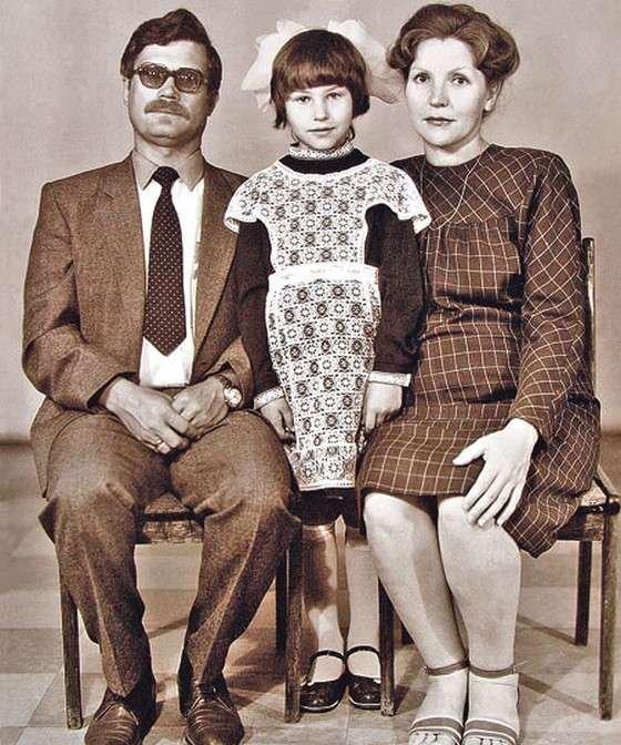 Светлана Сергеевна Камынина с родителями
