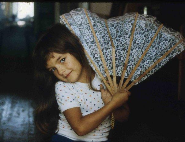 Ольга Павловец в детстве