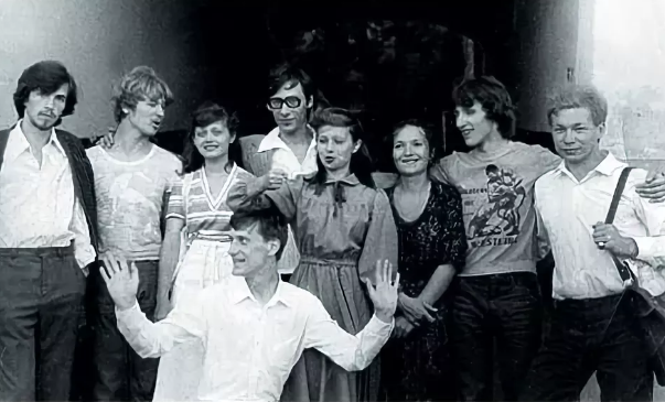 Сергей Пенкин (в центре) в молодости