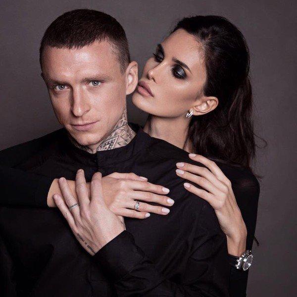 Павел Мамаев с женой Аланой Хубецовой