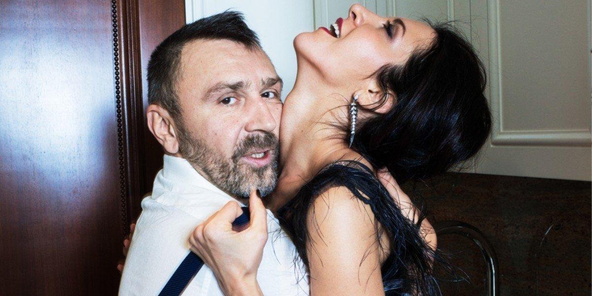 Елена Мозговая с мужем Сергеем Шнуровым