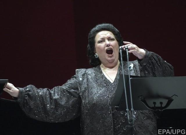Известная испанская оперная певица Монсеррат Кабалье