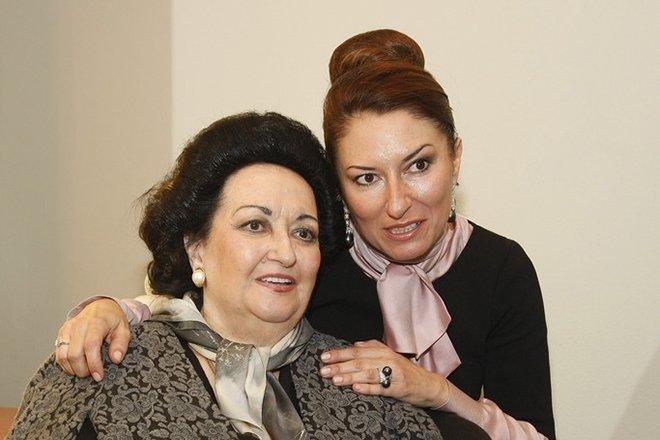 Монтсеррат Кабалье с дочкой