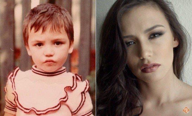 Ольга Серябкина в детстве и сейчас
