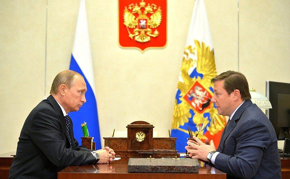 Александр Хлопонин и Путин