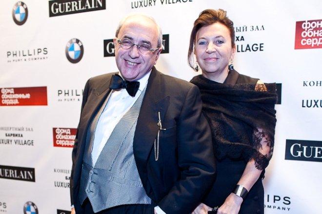 Александр Добровинский с женой Мариной