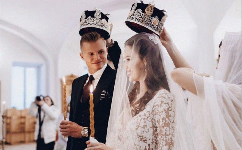 Дмитрий Тарасов и Анастасия Костенко венчание