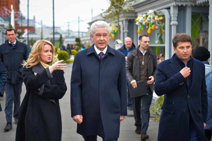 Наталья Сергунина с мэром Москвы Сергеем Собяниным